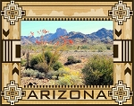 Arizona Laser Engraved Wood Picture Frame