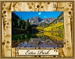 Estes Park Colorado Laser Engraved Wood Picture Frame