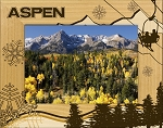 Aspen Colorado Laser Engraved Wood Picture Frame