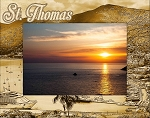 St. Thomas Laser Engraved Wood Picture Frame (5 x 7)