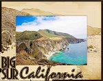 Big Sur California Laser Engraved Wood Picture Frame (5 x 7)