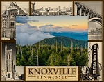 Knoxville Tennessee Landmarks Laser Engraved Wood Picture Frame