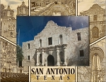 San Antonio Texas Laser Engraved Wood Picture Frame (5 x 7)
