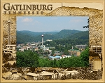 Gatlinburg Tennessee Laser Engraved Wood Picture Frame