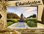 Charleston South Carolina with Palm Tree Laser Engraved Wood Picture Frame (5 x 7)