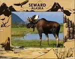 Seward Alaska Laser Engraved Wood Picture Frame (5 x 7)