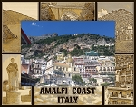 Amalfi Coast Italy Laser Engraved Wood Picture Frame (5 x 7)