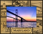 Maryland Montage Laser Engraved Wood Picture Frame