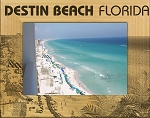 Destin Beach Florida Laser Engraved Wood Picture Frame