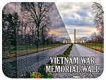 Vietnam War Memorial Wall Washington D.C. Fridge Magnet