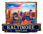 Baltimore Maryland Artwood Fridge Magnet