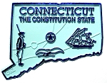 Connecticut the Constitution State Map Fridge Magnet