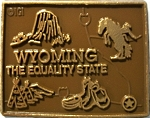 Wyoming the Equality State Map Fridge Magnet