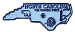 North Carolina the Tarheel State Map Fridge Magnet