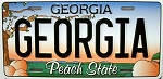 Georgia State License Plate Novelty Fridge Magnet