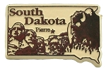 South Dakota Pierre United States Fridge Magnet