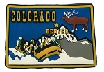 Colorado Denver Multi Color Fridge Magnet