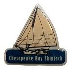 Chesapeake Bay Skipjack Hat Tac or Lapel Pin