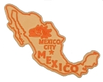 Mexico Outline Fridge Magnet