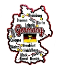 Germany Map Fridge Magnet