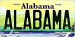 Alabama State License Plate Novelty Fridge Magnet