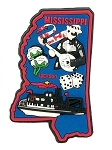 Mississippi Jackson Multi Color Fridge Magnet