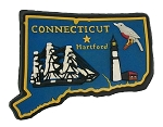 Connecticut Hartford Multi Color Fridge Magnet
