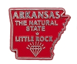 Arkansas the Razorback State Souvenir Fridge Magnet