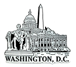 Washington D.C. Monuments Fridge Magnet
