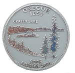Oregon State Quarter Fridge Magnet