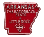 Arkansas The Razorback State Outline Magnet