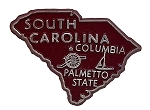 South Carolina The Palmetto State Souvenir Fridge Magnet