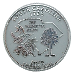South Carolina State Quarter Fridge Magnet