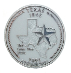 Texas State Quarter Fridge Magnet