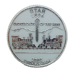 Utah State Quarter Fridge Magnet