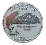 Washington State Quarter Fridge Magnet