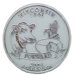 Wisconsin State Quarter Fridge Magnet