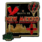 New Mexico Land of Enchantment 4 Color Fridge Magnet