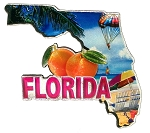 Florida the Sunshine State Jumbo Artwood Foil Fridge Magnet