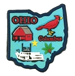 Ohio Multi Color Fridge Magnet