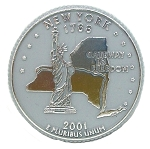 New York State Quarter Fridge Magnet