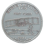 North Carolina State Quarter Fridge Magnet