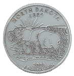 North Dakota State Quarter Fridge Magnet