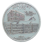 Kentucky State Quarter Fridge Magnet