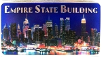 Empire State Building Foil Panoramic Dual Sided Fridge Magnet