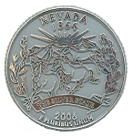 Nevada State Quarter Fridge Magnet