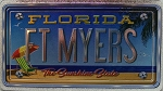 Fort Myers Florida Foil Panoramic Dual Sided Fridge Magnet