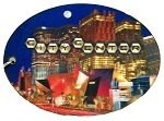 Las Vegas City Center Nevada Oval Double Sided 3D Key Chain
