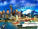 Seattle Washington 3D Fridge Magnet