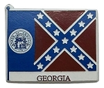 Georgia State Flag Fridge Magnet